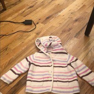 Baby Gap Striped Sweater Hoodie